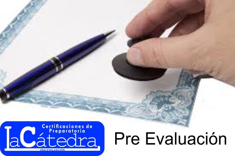 Pre evaluación de Certificación